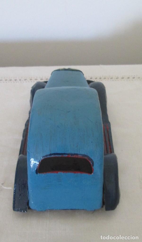 Juguetes antiguos de hojalata: Antiguo coche en lata, de arrastre - Foto 6 - 112090823