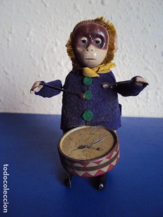(JU-180200)MONO A CUERDA FUNCIONANDO SCHUCO MADE IN GERMANY (Juguetes - Juguetes Antiguos de Hojalata Extranjeros)