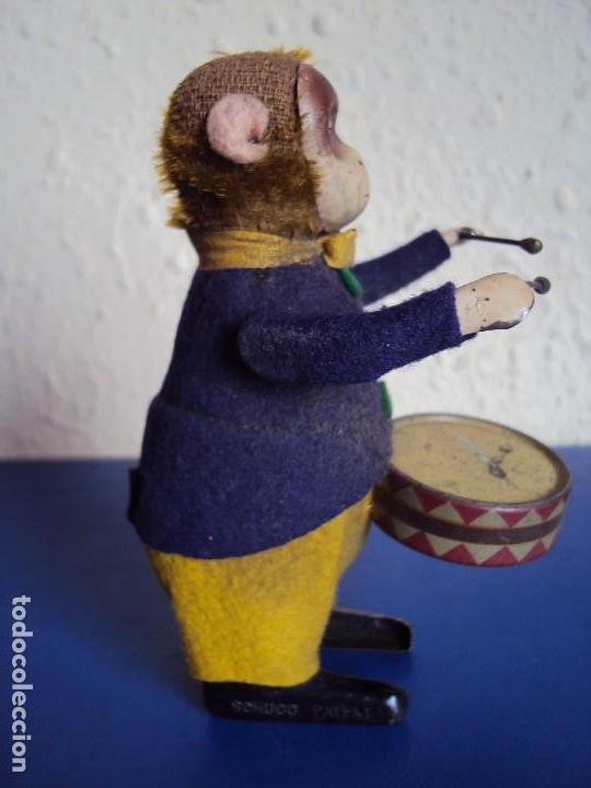 Juguetes antiguos de hojalata: (JU-180200)MONO A CUERDA FUNCIONANDO SCHUCO MADE IN GERMANY - Foto 3 - 113144751