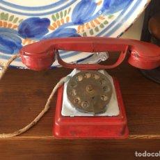Juguetes antiguos de hojalata: TELEFONO DE HOJALATA RICO. Lote 114678686