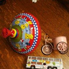 Juguetes antiguos de hojalata: LOTE DE 3 JUGUETES.. Lote 115017327