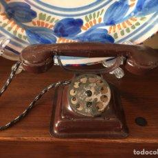 Juguetes antiguos de hojalata: TELEFONO RICO DE HOJALATA DE LOS AÑOS 30. Lote 111513950
