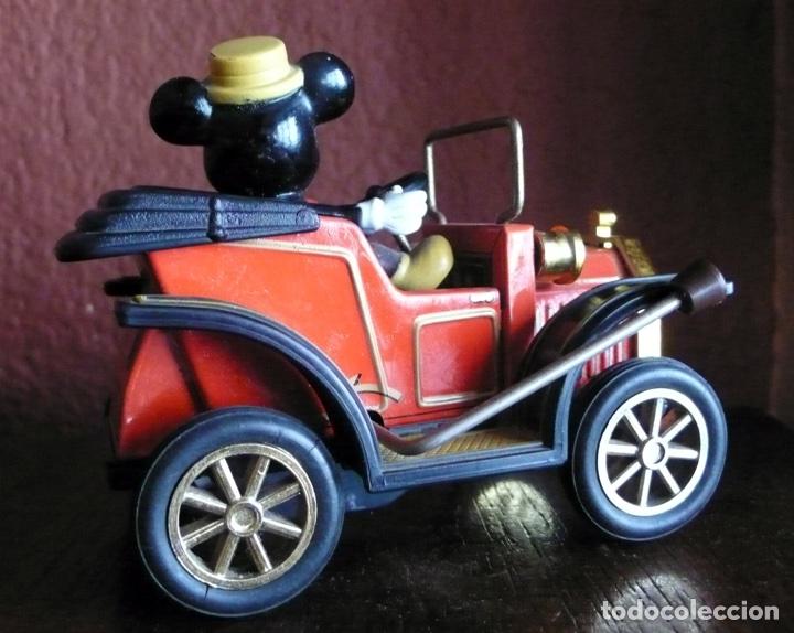 Juguetes antiguos de hojalata: COCHE DE MICKEY MOUSE DE HOJALATA LITOGRAFIADA Y PLASTICO FABRICADO EN JAPON - Foto 2 - 116344658