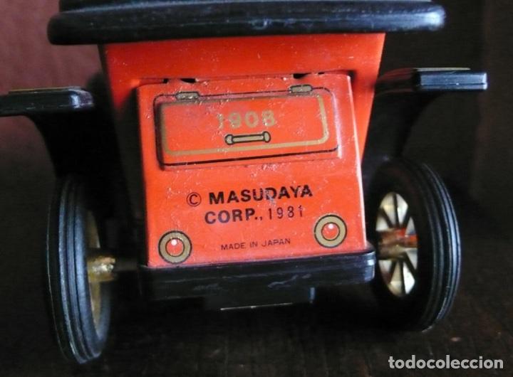 Juguetes antiguos de hojalata: COCHE DE MICKEY MOUSE DE HOJALATA LITOGRAFIADA Y PLASTICO FABRICADO EN JAPON - Foto 3 - 116344658