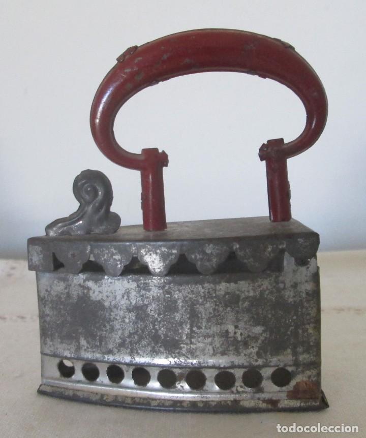 ANTIGUA MINI PLANCHA EN HOJALATA (Juguetes - Juguetes Antiguos de Hojalata Españoles)