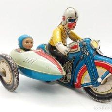 Juguetes antiguos de hojalata: MOTO CON SIDECAR DE GSH REFERENCIA MS 709 605 FABRICADA EN CHINA AÑOS 60/70. Lote 117894435
