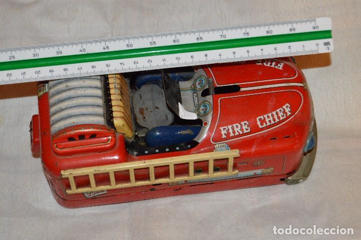 Juguetes antiguos de hojalata: ANTIGUO - FIRE CHIEF CAR - MODERN TOYS JAPAN - MT JAPAN - MASUDAYA TIN VINTAGE - BATTERY OPERATED - Foto 26 - 118301223