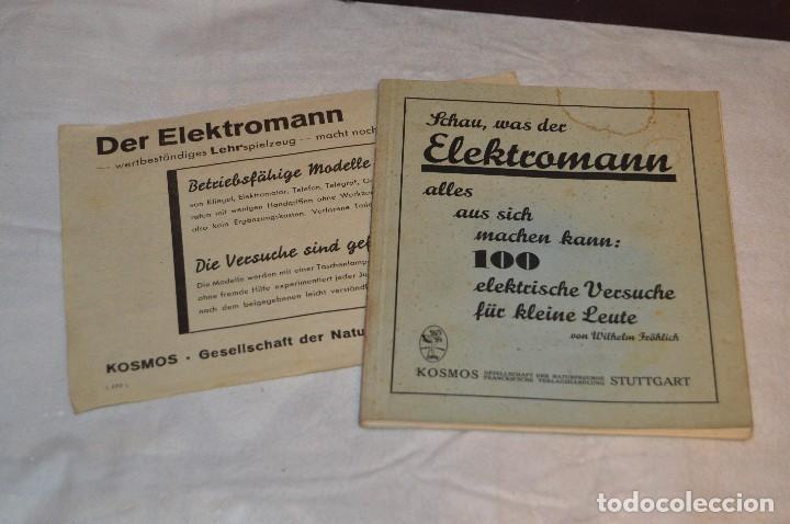 Juguetes antiguos de hojalata: ANTIGUO Y VINTAGE - años 30 / 40 - JUEGO ELÉCTRICO - SCHAU, WAS DER ELEKTROMANN - KOSMOS - HAZ OFERT - Foto 9 - 119229915