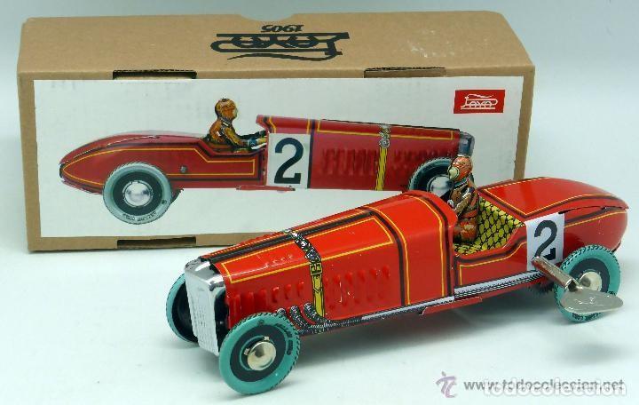 Juguetes antiguos de hojalata: Bugatti bólido Paya N 2 NUEVO EN SU CAJA - Foto 2 - 164954968