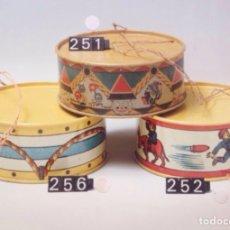 Juguetes antiguos de hojalata: TAMBOR DE 1930 ORIGINAL Y SIN USO. Lote 178621293
