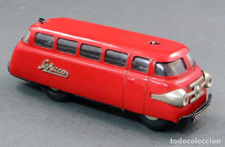 Juguetes antiguos de hojalata: Autobus Schuco Varianto 3044 Bus Germany a cuerda años 50 Funciona - Foto 2 - 120301639