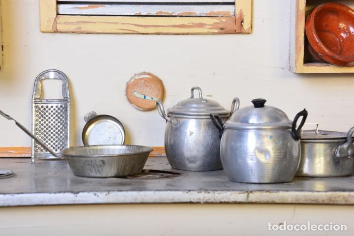 Juguetes antiguos de hojalata: Antigua cocinita con electricidad - Viuda e hijos de Marsal Denia, cacharritos - Cocina juguete - Foto 8 - 120726203
