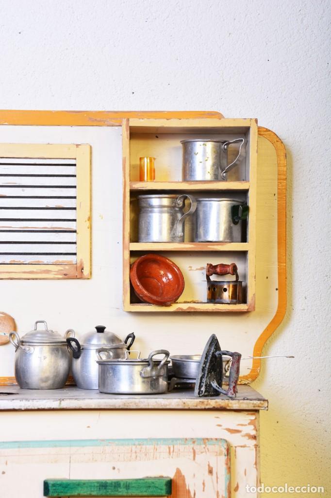 Juguetes antiguos de hojalata: Antigua cocinita con electricidad - Viuda e hijos de Marsal Denia, cacharritos - Cocina juguete - Foto 10 - 120726203