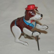 Juguetes antiguos de hojalata: VINTAGE - PERRO DE HOJALATA - MADE IN JAPAN - FUNCIONA - ENDOH - A CUERDA - TIN TOY - WIND UP TOY. Lote 120909315