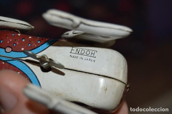 Juguetes antiguos de hojalata: VINTAGE - PERRO DE HOJALATA - MADE IN JAPAN - FUNCIONA - ENDOH - A CUERDA - TIN TOY - WIND UP TOY - Foto 7 - 120909315