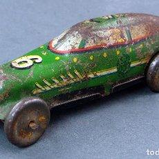 Juguetes antiguos de hojalata - Bólido carreras Marx Toys USA hojalata litografiada a cuerda años 30 - 40 No funciona - 121613975