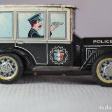 Juguetes antiguos de hojalata: CARRO DE HOJALATA POLICIA JAPON 1960. Lote 122834003