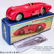 Juguetes antiguos de hojalata: SCHYLLING SUNBEAM 1000 LAND SPEED RECORD CAR. Lote 93185180