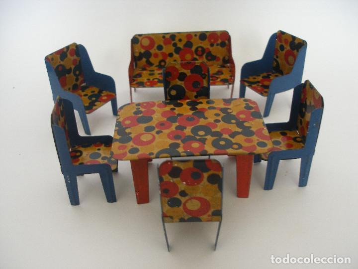 Conjunto muebles comedor salón hojalata litogra - Verkauft durch ...