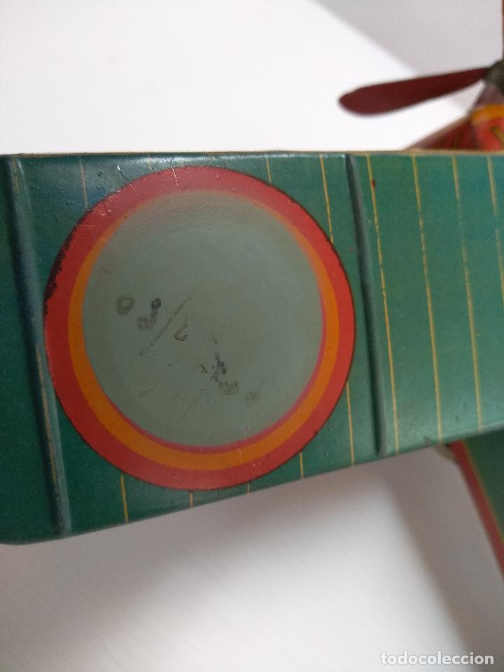 Juguetes antiguos de hojalata: Avión aeroplano Looping Payá ? años 20-30 - Foto 7 - 127208563