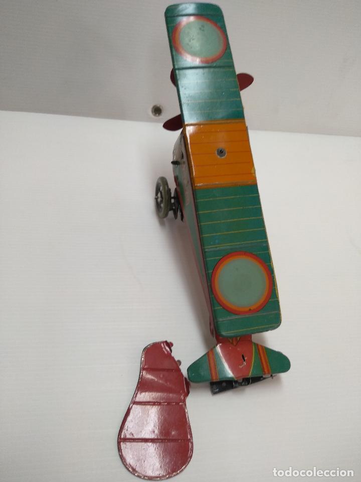 Juguetes antiguos de hojalata: Avión aeroplano Looping Payá ? años 20-30 - Foto 14 - 127208563