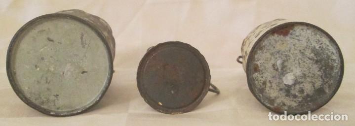 Juguetes antiguos de hojalata: Antiguos calderos y jarra en hojalata - Foto 5 - 127456491