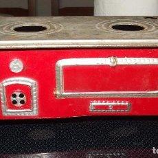 Juguetes antiguos de hojalata: COCINA DE HOJALATA DE LA MECÁNICA IBENSE,AÑOS 40 Ó 50. Lote 127897219