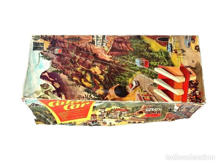Juguetes antiguos de hojalata: PISTA ACCESORIOS MOVIBLES TELEFÉRICO CABLE CAR TECHNOFIX WESTERN GERMANY A CUERDA AÑOS 60 CON CAJA - Foto 16 - 128491283