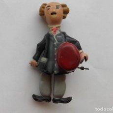 Juguetes antiguos de hojalata: CHARLOT , EL ALEGRE VAGABUNDO, ANTIGUO JUGUETE HOJALATA, INCOMPLETO. Lote 129226159