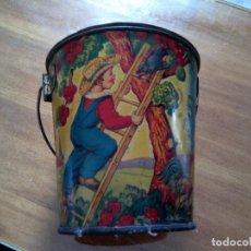 Juguetes antiguos de hojalata: * ANTIGUO CUBO LITOGRAFIADO. 12 CM. (,RF:*). Lote 130320590