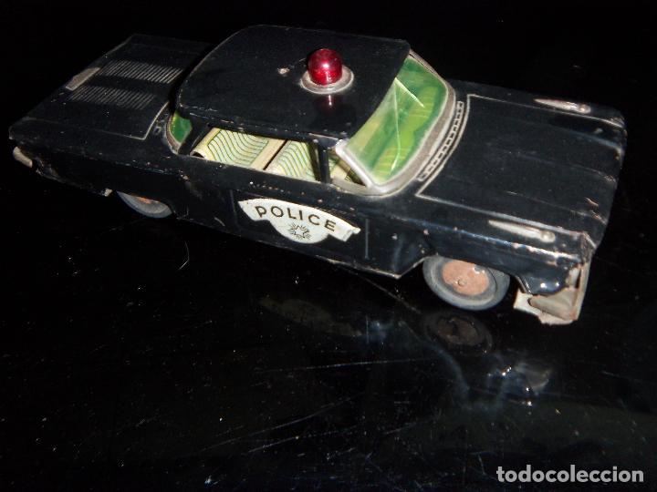 Juguetes antiguos de hojalata: Gorgo Coche De Policia De hojaLata años 60tas 19x10 cm - Foto 3 - 130373006