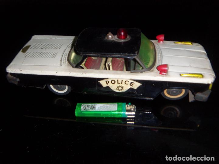 COCHE DE POLICIA GORGO DE LATA CON DETALLES 29 X10 CM (Juguetes - Juguetes Antiguos de Hojalata Extranjeros)