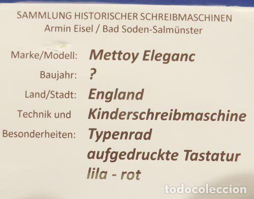 Juguetes antiguos de hojalata: Máquina escribri Mettoy elegant-resolución SM museo eisel-máquina escribirr - 869 HOJALATA 134,00 € - Foto 3 - 130669338