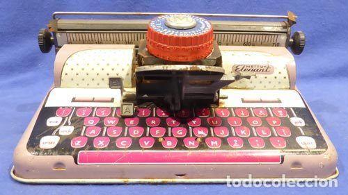 Juguetes antiguos de hojalata: Máquina escribri Mettoy elegant-resolución SM museo eisel-máquina escribirr - 869 HOJALATA 134,00 € - Foto 4 - 130669338