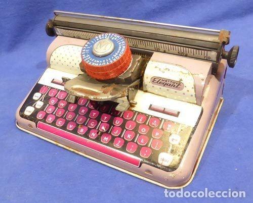 Juguetes antiguos de hojalata: Máquina escribri Mettoy elegant-resolución SM museo eisel-máquina escribirr - 869 HOJALATA 134,00 € - Foto 11 - 130669338