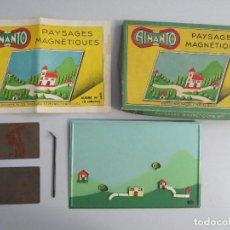 Juguetes antiguos de hojalata: PAYSAGES MAGNETIQUES - PAISAJES MAGNETICOS - AIMANTO - IMANES ARBOLES PAISAJES - FRANCIA. Lote 132060562
