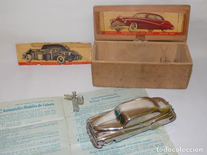 Juguetes antiguos de hojalata: Antiguo coche de hojalata y a cuerda BUICK PRAMETA made in germany // tin toy car - Foto 3 - 178975750