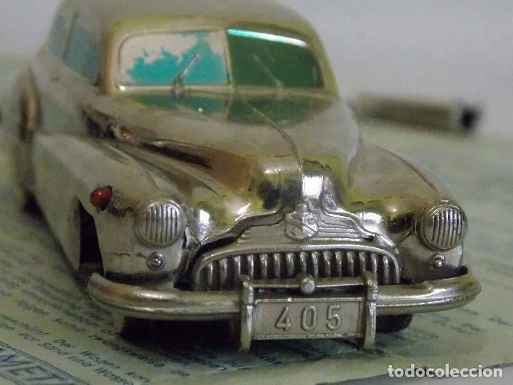 Juguetes antiguos de hojalata: Antiguo coche de hojalata y a cuerda BUICK PRAMETA made in germany // tin toy car - Foto 9 - 178975750