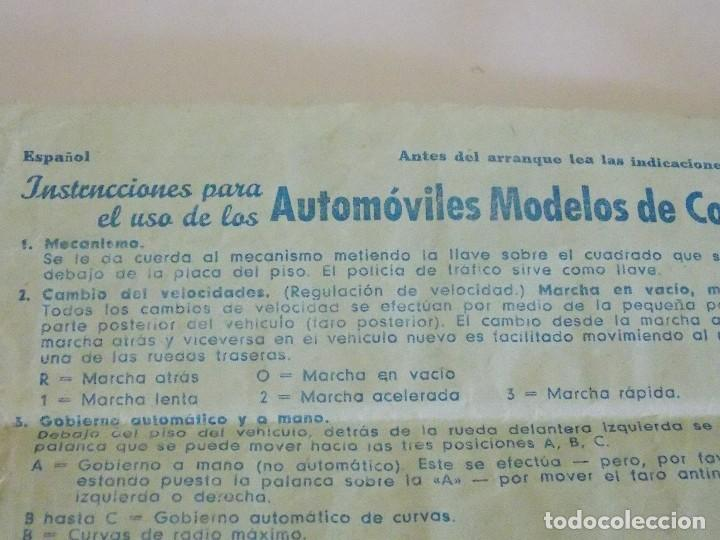 Juguetes antiguos de hojalata: Antiguo coche de hojalata y a cuerda BUICK PRAMETA made in germany // tin toy car - Foto 10 - 178975750