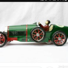 Juguetes antiguos de hojalata - auto bugatti verde de paya.envio incluido - 132327697