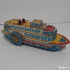 Juguetes antiguos de hojalata: BARCO HOJALATA, MODERN TOYS, MADE IN JAPAN, AÑOS 70. Lote 135244758