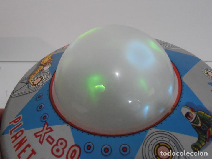Juguetes antiguos de hojalata: OVNI, UFO, PLATILLO VOLANTE X-80 PLANET EXPLORER, CAJA ORIGINAL, MODERN TOYS, MADE IN JAPAN, AÑOS 60 - Foto 2 - 172270370
