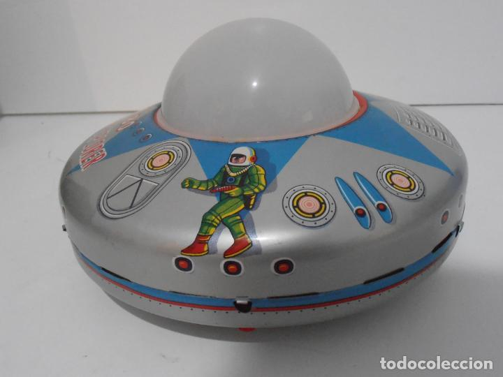 Juguetes antiguos de hojalata: OVNI, UFO, PLATILLO VOLANTE X-80 PLANET EXPLORER, CAJA ORIGINAL, MODERN TOYS, MADE IN JAPAN, AÑOS 60 - Foto 3 - 172270370