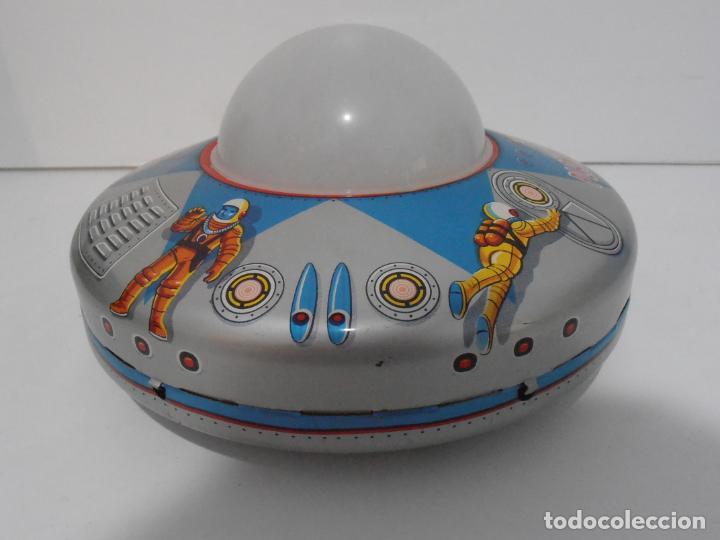 Juguetes antiguos de hojalata: OVNI, UFO, PLATILLO VOLANTE X-80 PLANET EXPLORER, CAJA ORIGINAL, MODERN TOYS, MADE IN JAPAN, AÑOS 60 - Foto 4 - 172270370