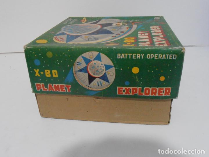 Juguetes antiguos de hojalata: OVNI, UFO, PLATILLO VOLANTE X-80 PLANET EXPLORER, CAJA ORIGINAL, MODERN TOYS, MADE IN JAPAN, AÑOS 60 - Foto 9 - 172270370