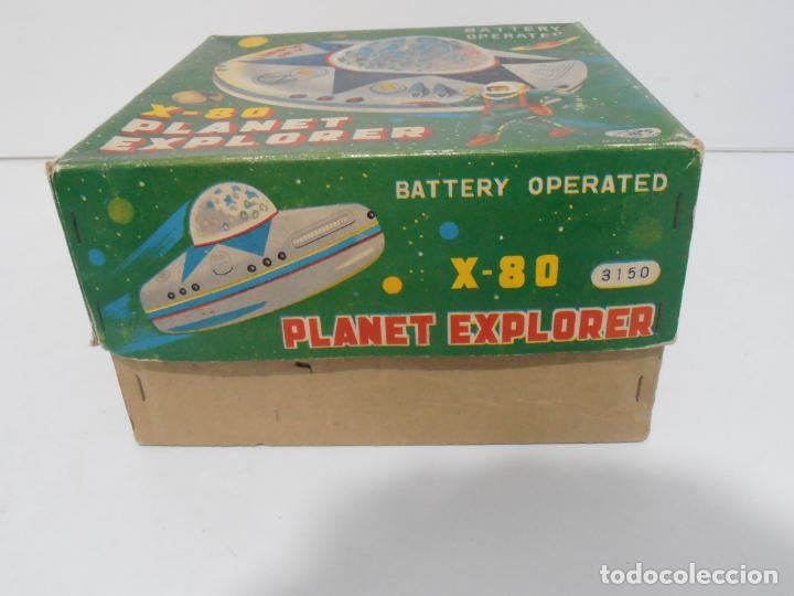 Juguetes antiguos de hojalata: OVNI, UFO, PLATILLO VOLANTE X-80 PLANET EXPLORER, CAJA ORIGINAL, MODERN TOYS, MADE IN JAPAN, AÑOS 60 - Foto 10 - 172270370