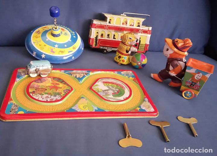 LOTE 5 JUGUETES DE HOJALATA (Juguetes - Juguetes de Hojalata: Reproducciones y Actuales )
