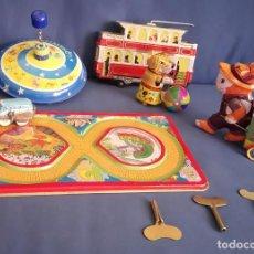Juguetes antiguos de hojalata: LOTE 5 JUGUETES DE HOJALATA. Lote 135920574