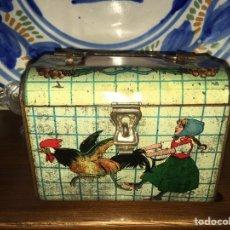 Juguetes antiguos de hojalata: CABAS ( CESTA) DE HOJALATA RICO ( ES EL MEDIANO DEL JUEGO). NO PAYA NO JYESA. Lote 136189690