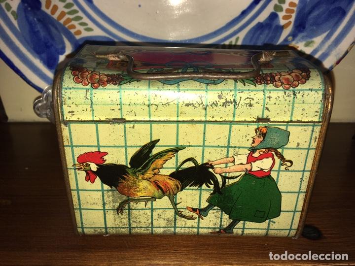 Juguetes antiguos de hojalata: Cabas ( cesta) de hojalata Rico ( es el mediano del juego). No paya no Jyesa - Foto 2 - 136189690